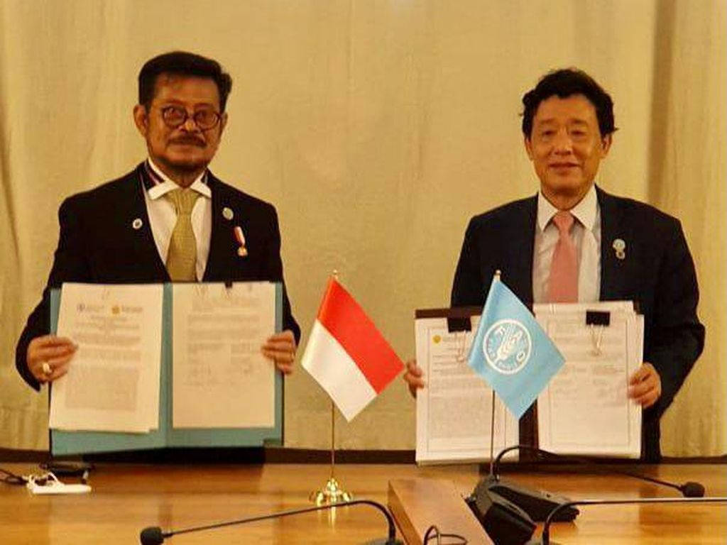Kementan Teken MoU dengan FAO soal Pertanian-Ketahanan Pangan Dunia