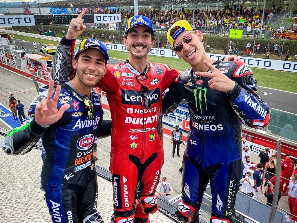 MotoGP San Marino 2021: Quartararo Angkat Jempol ke Bagnaia