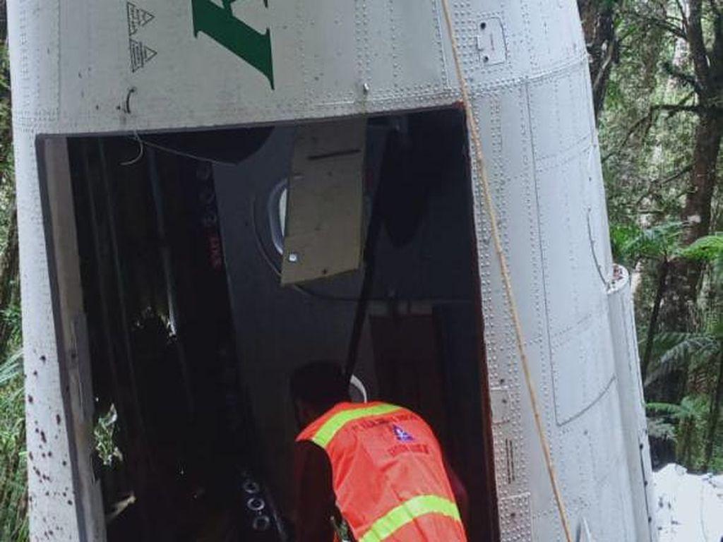 KNKT Analisis Kotak Hitam Pesawat Rimbun Air Jatuh di Gunung Wabu Papua