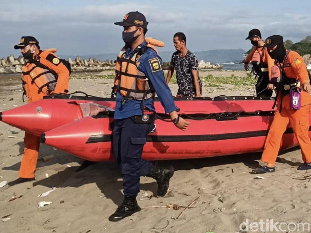 Basarnas Cari Bocah Tenggelam di Teluk Palabuhanratu Sukabumi