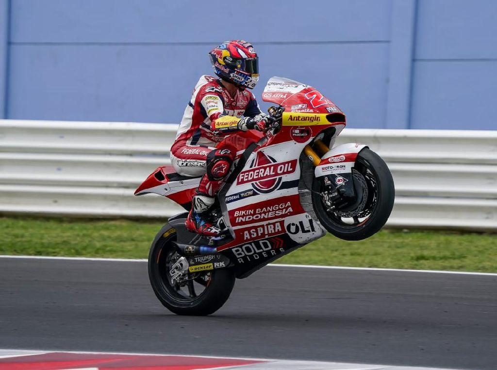 Hasil Tim Indonesia di Moto2 San Marino: Ada yang Finis 10 Besar