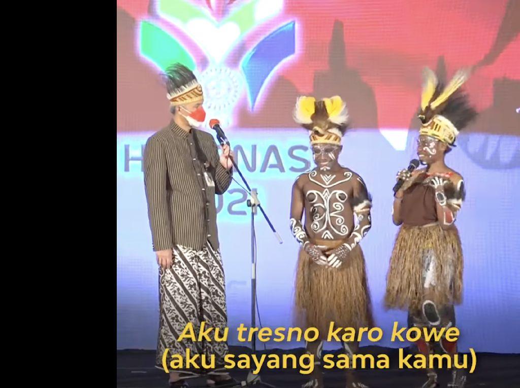 Pesan Ganjar ke Atlet Jateng PON XX & Semangat Persaudaraan untuk Papua