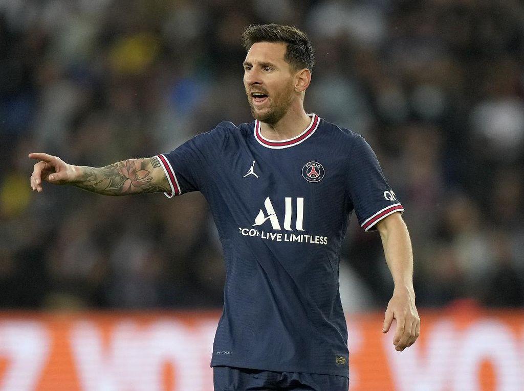 Messi Bertemu Ed Sheeran Usai Cetak Gol Perdana di PSG