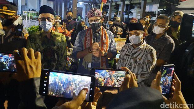 Menparekraf Sandiaga Uno melakukan kunjungan kerja di Bondowoso