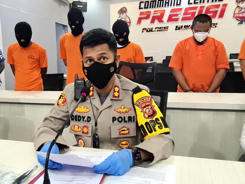 2 Pelaku Pembalakan Liar di Kawasan Hutan Produksi Ditangkap Polisi Sukabumi
