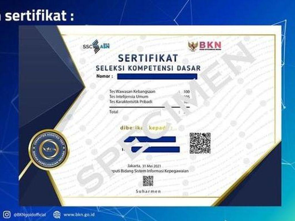 Fungsi dan Cara Download Sertifikat SKD CPNS di sertificat.bkn.go.id