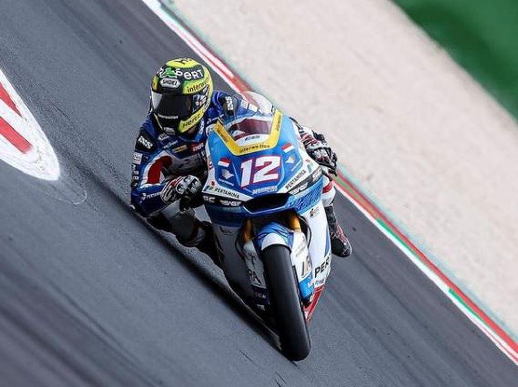 Hasil Tim Indonesia di Moto2 San Marino 2021: Dua Rider Petik Poin