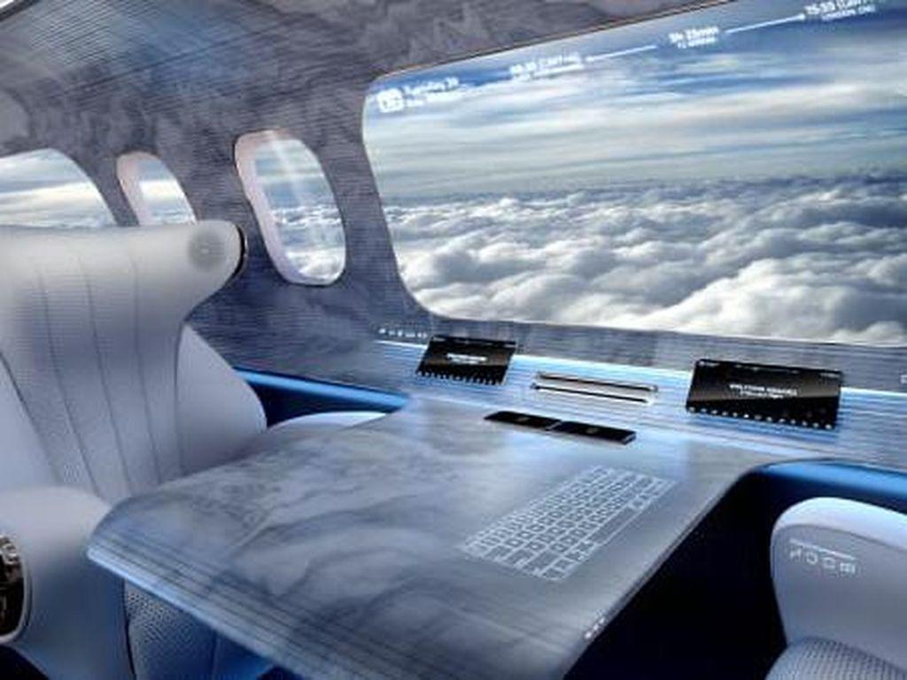 Potret Konsep Jendela Pesawat Super Besar, tapi...