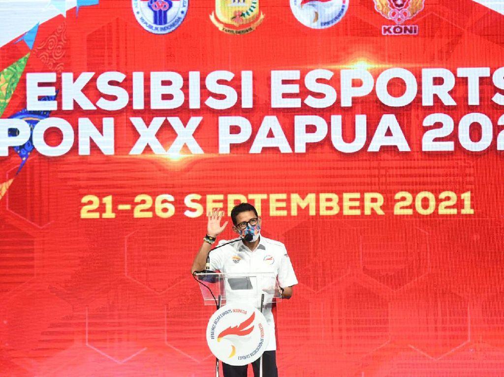 Sandiaga Uno Buka Eksibisi Esports PON Papua