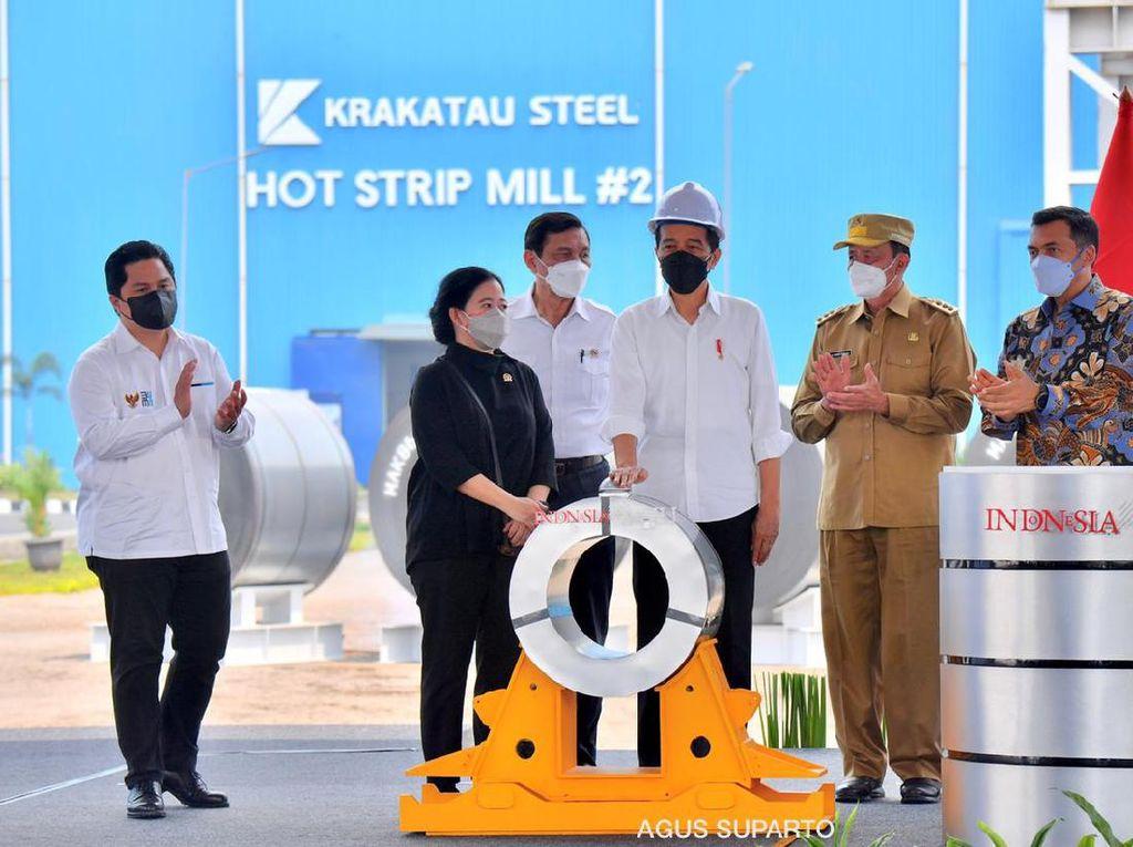 Jasa Bung Karno Diungkit Puan di Peresmian Pabrik HSM 2 Krakatau Steel