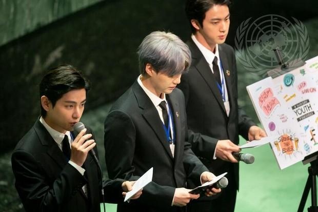 V, Suga và Jin phát biểu tại Đại hội đồng LHQ