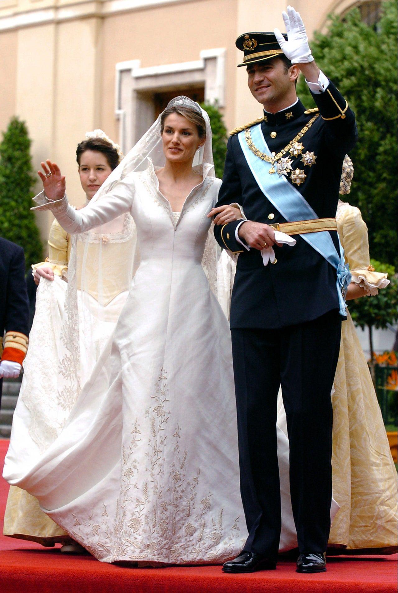 Gaun pengantin Ratu Letizia dari Spanyol