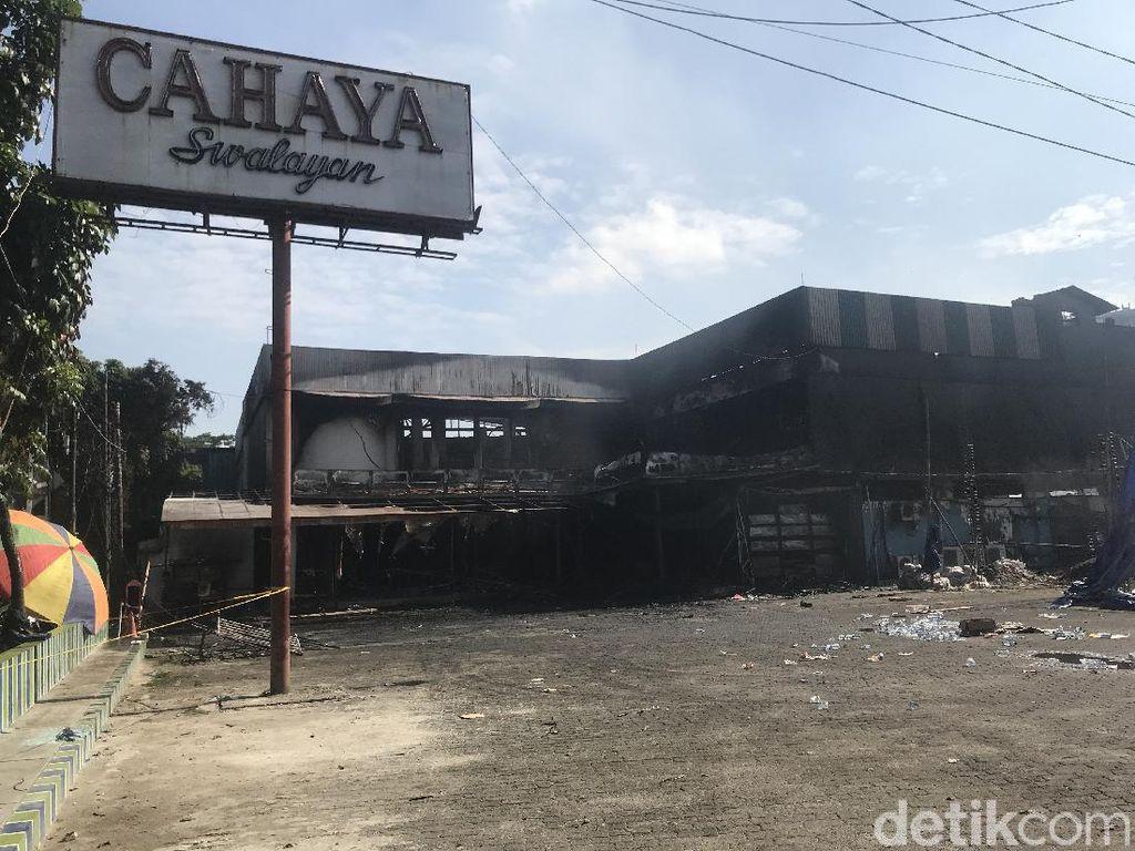 Kondisi Terkini Toko Swalayan di Cilandak Jaksel yang Hangus Terbakar