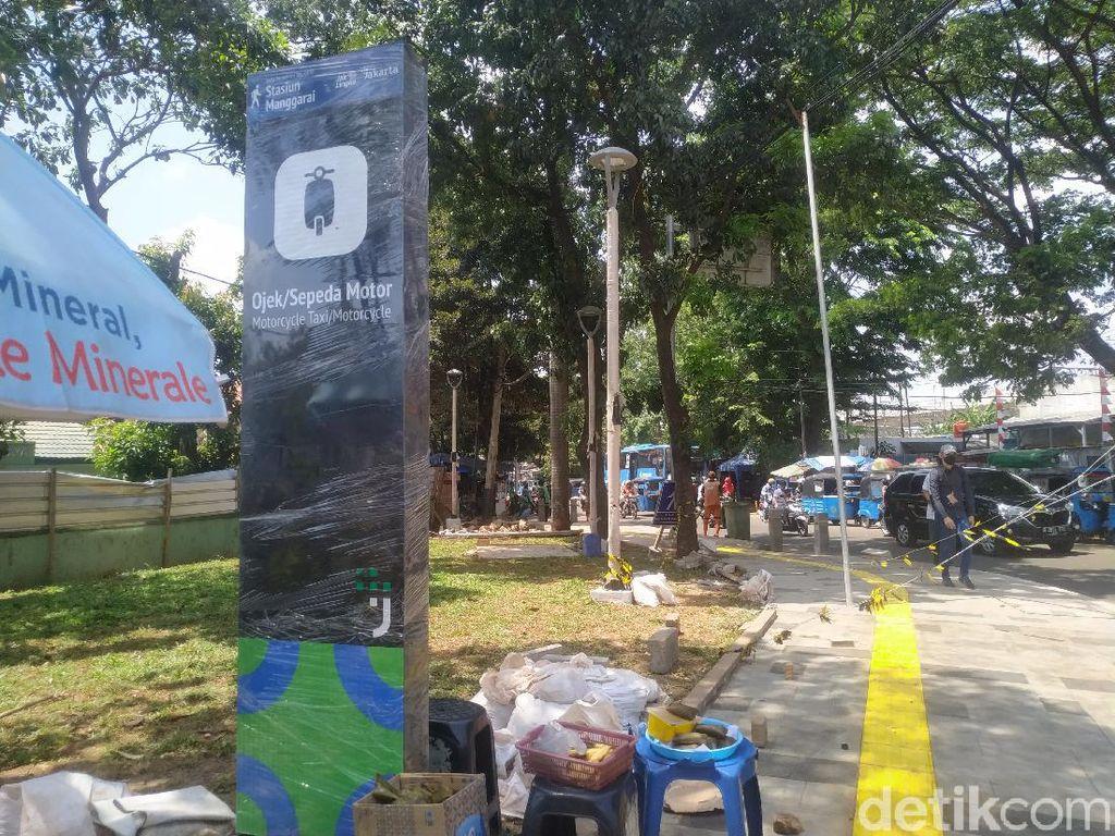 Shelter Ojol Stasiun Manggarai Akan Dibangun Dekat Halte TransJakarta