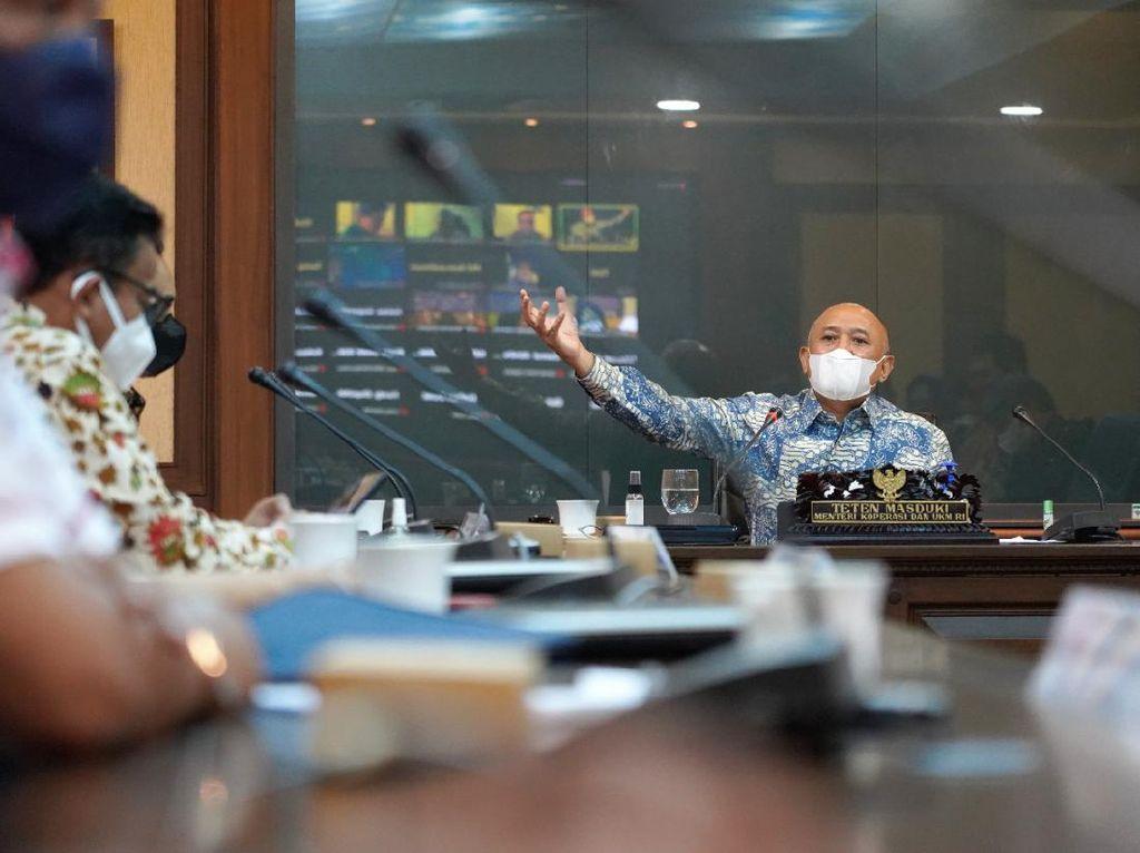 Bertemu Asosiasi Pedagang, Teten Pacu Semangat di Tengah Pandemi