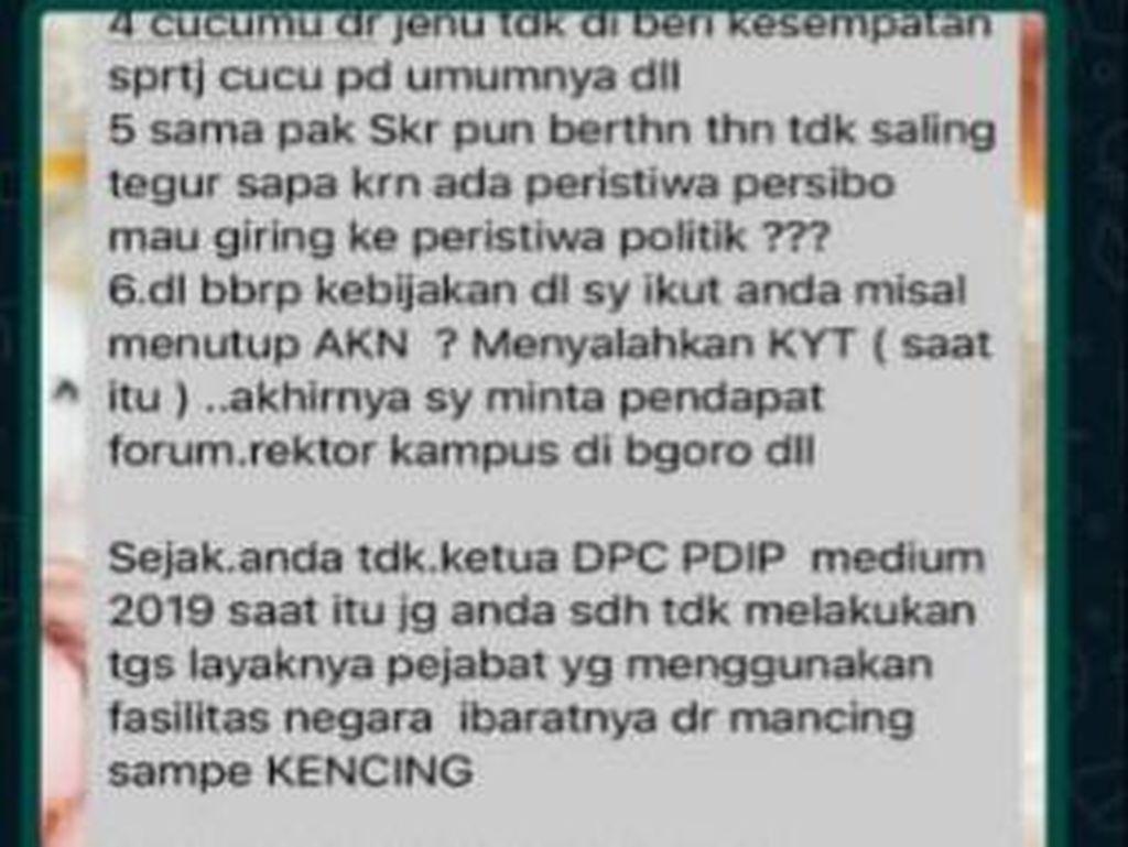 Ini Isi Chat Bupati yang Membuat Wabup Bojonegoro Mengadu ke Polisi