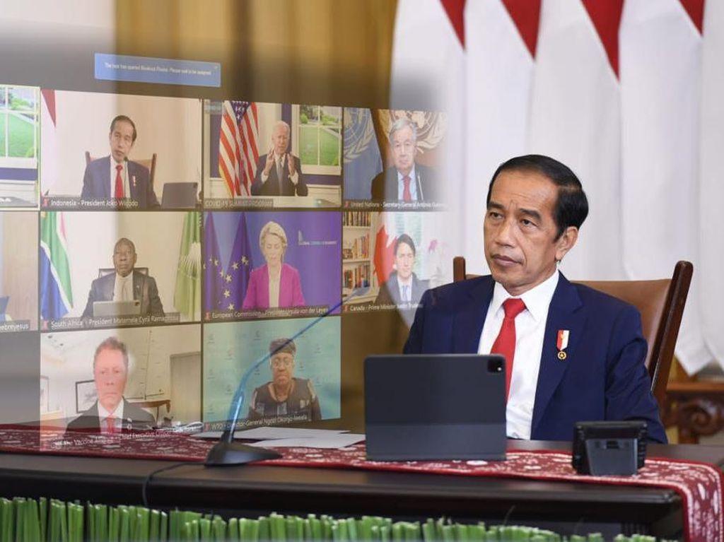 Momen Jokowi Hadiri Global COVID-19 Summit Bicara Ketahanan Kesehatan Dunia
