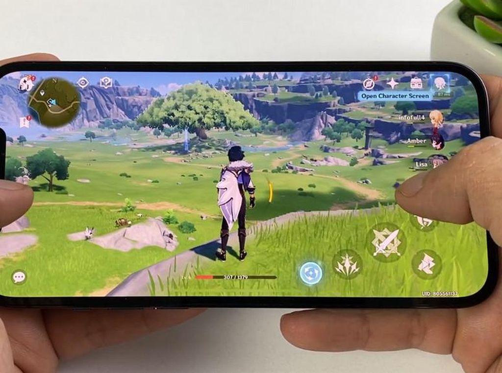 iPhone 13 Pro Max Mantul Main Genshin Impact 60 FPS Ketimbang Android