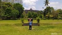 Seminggu Borobudur Uji Coba Buka, Pengunjung Kagok Pakai PeduliLindungi