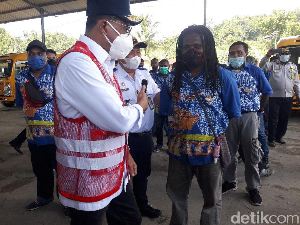 Menhub Cek Bus Angkutan PON XX Papua, Minta Sopir Utamakan Keselamatan