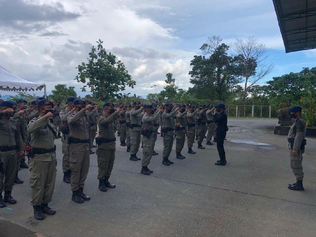 100 Personel BKO Brimob Riau Tiba di Timika Untuk Pengamanan PON XX
