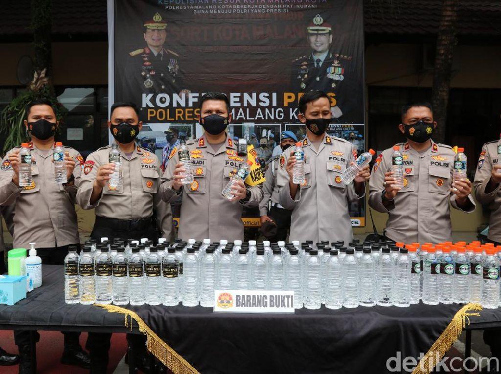 2.820 Botol Miras Ilegal Diamankan Polisi Kota Malang