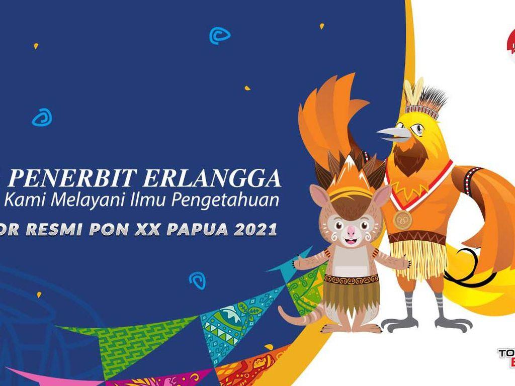 Penerbit Erlangga Jadi Sponsor Pendukung Resmi PON Papua