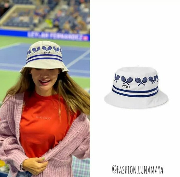 Topi 'US Open Twill Bucket' dari Ralph Lauren yang dipakai Luna Maya seharga Rp1,1 juta.