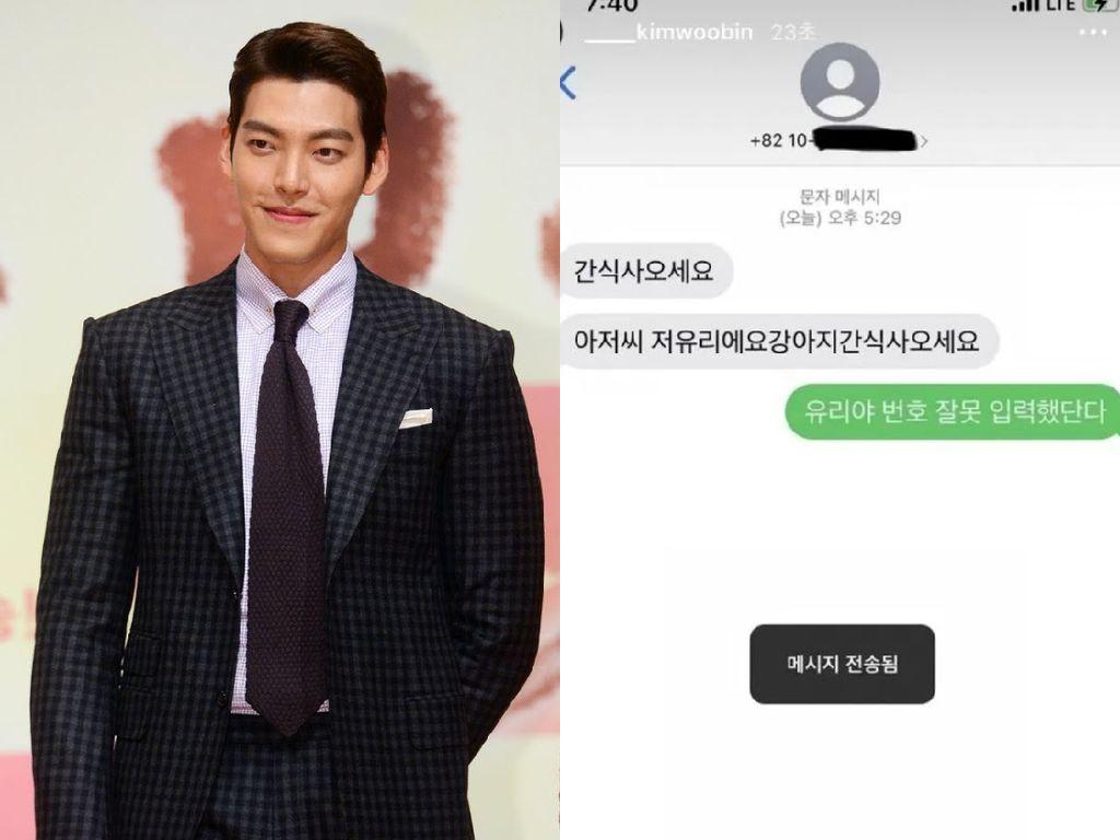 Gemas! Aktor Kim Woo Bin dapat Pesan SMS Nyasar dari Bocah yang Minta Jajanan