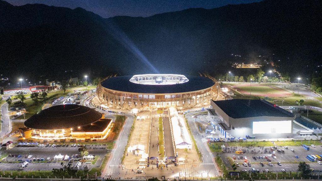 Megahnya Stadion Lukas Enembe Jelang Pembukaan PON Papua