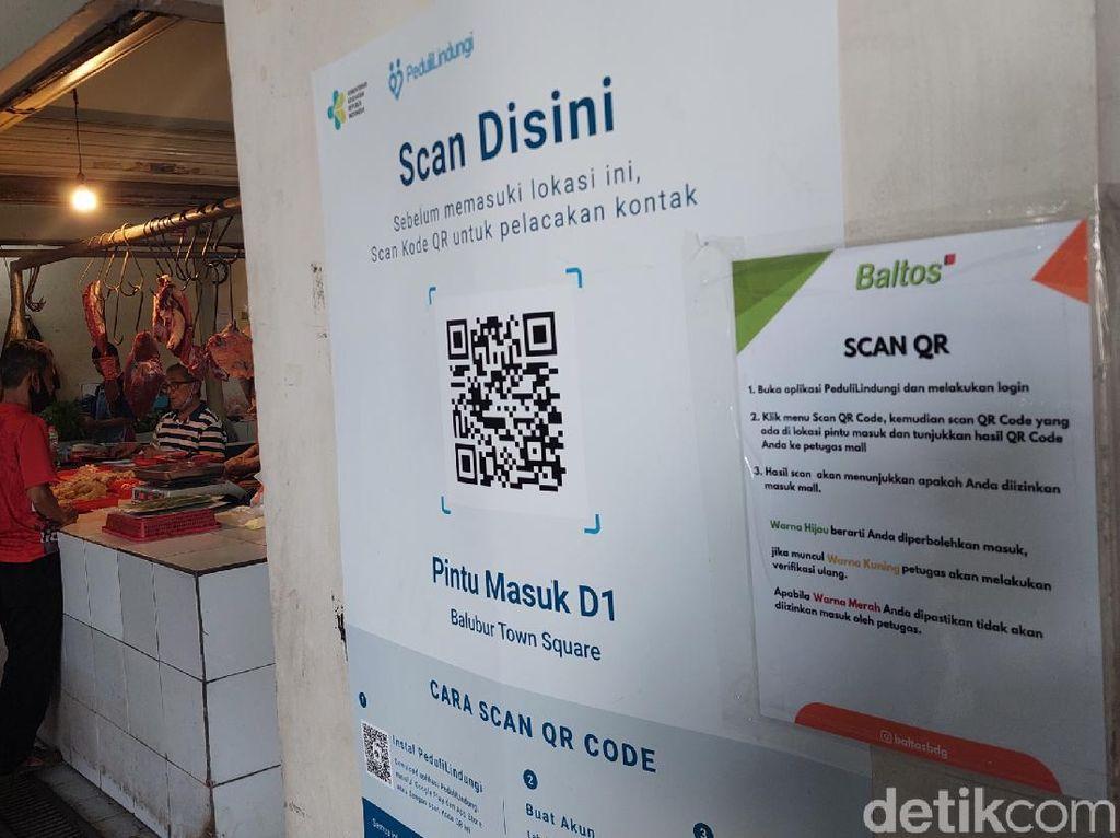 Dalih Emak-emak Bobol Pasar di Bandung Tanpa Pindai Kode QR