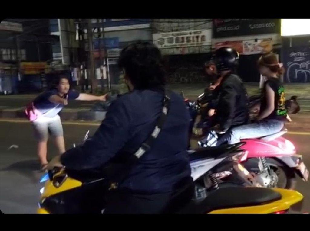 Bikin Resah! Aksi Blokir Jalan Raya untuk Balap Liar