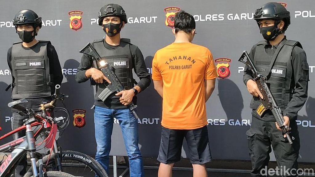 Maling Sepeda Spesialis Perumahan Elit di Garut Tertangkap Gaes