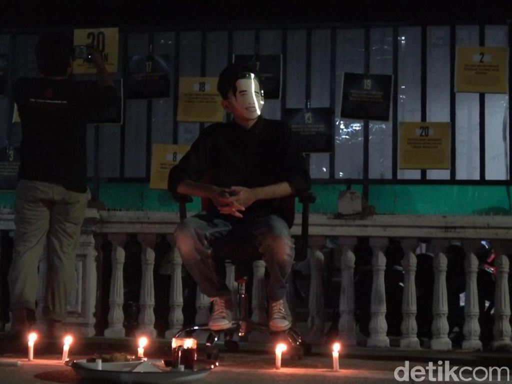 56 Pegawai KPK Dipecat, Sejumlah Aktivis di Makassar Gelar Aksi Tolak Bala