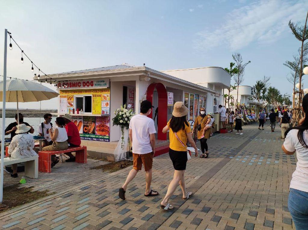 Menikmati Sunset ala Korea di Teluk Jakarta