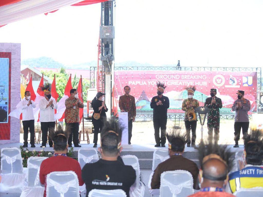 Ground Breaking Papua Youth Creative Hub, Jokowi: Ini Masa Depan Papua