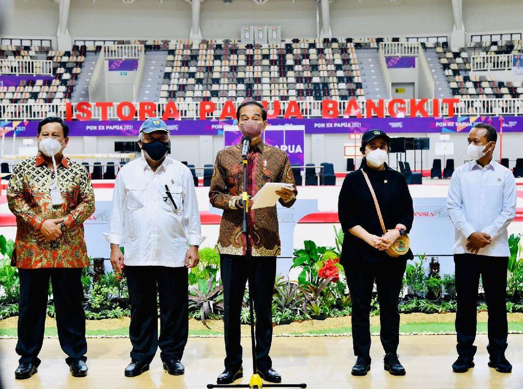 Momen Jokowi Resmikan 7 Venue PON XX Papua