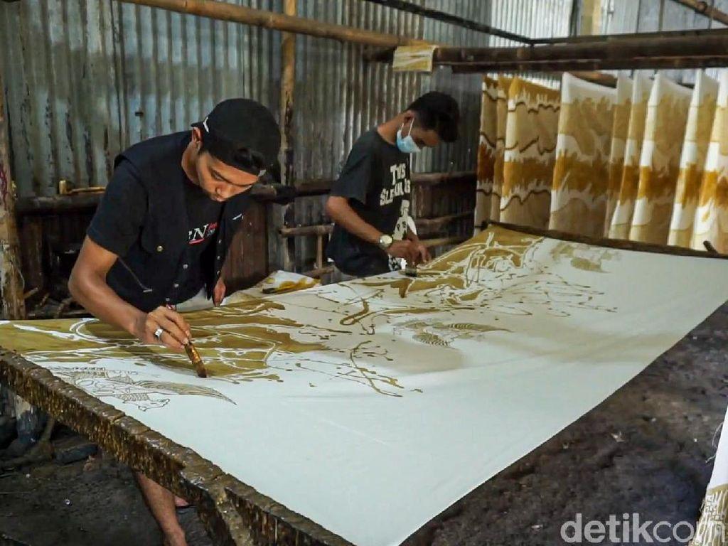 Cantiknya Batik Motif Garuda Pancasila Karya Pengrajin di Kulon Progo