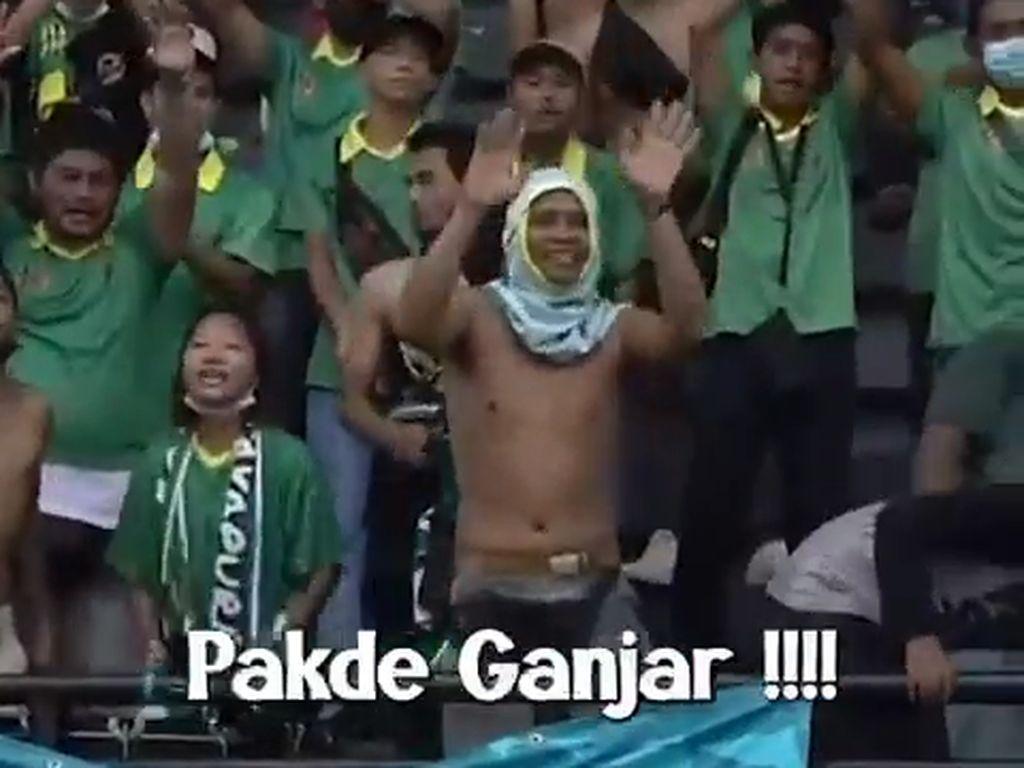 Beredar Video Suporter Jatim Sambut Ganjar Pranowo di PON Papua