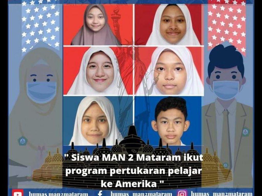Alhamdulillah! 6 Siswa MAN 2 Mataram Dapat Beasiswa Belajar Gratis di AS