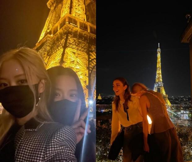 Rosè terlihat habiskan waktu bersama Jisoo dan Talia Ryder selama di Paris/Foto: instagram.com/roses_are_rosie