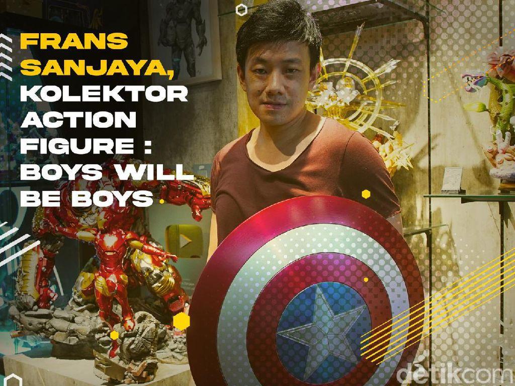 Frans Sanjaya, Youtuber Spesialis Action Figure Jutaan Rupiah