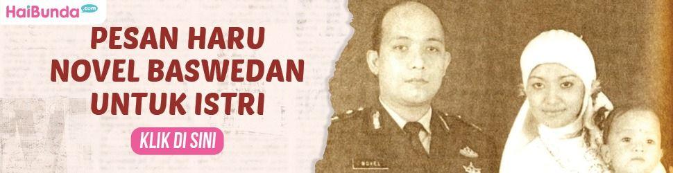 Banner Pesan Novel Baswedan untuk Istri