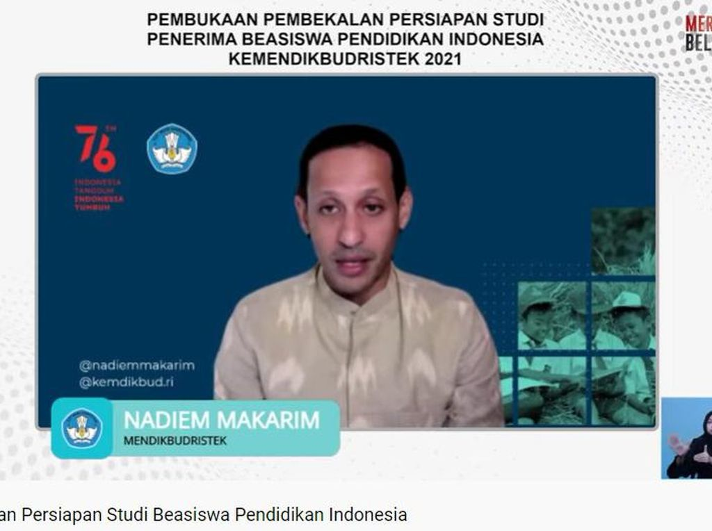 Penerima Beasiswa PI Capai 2.175 Orang, Nadiem Berencana Tambah Kuota