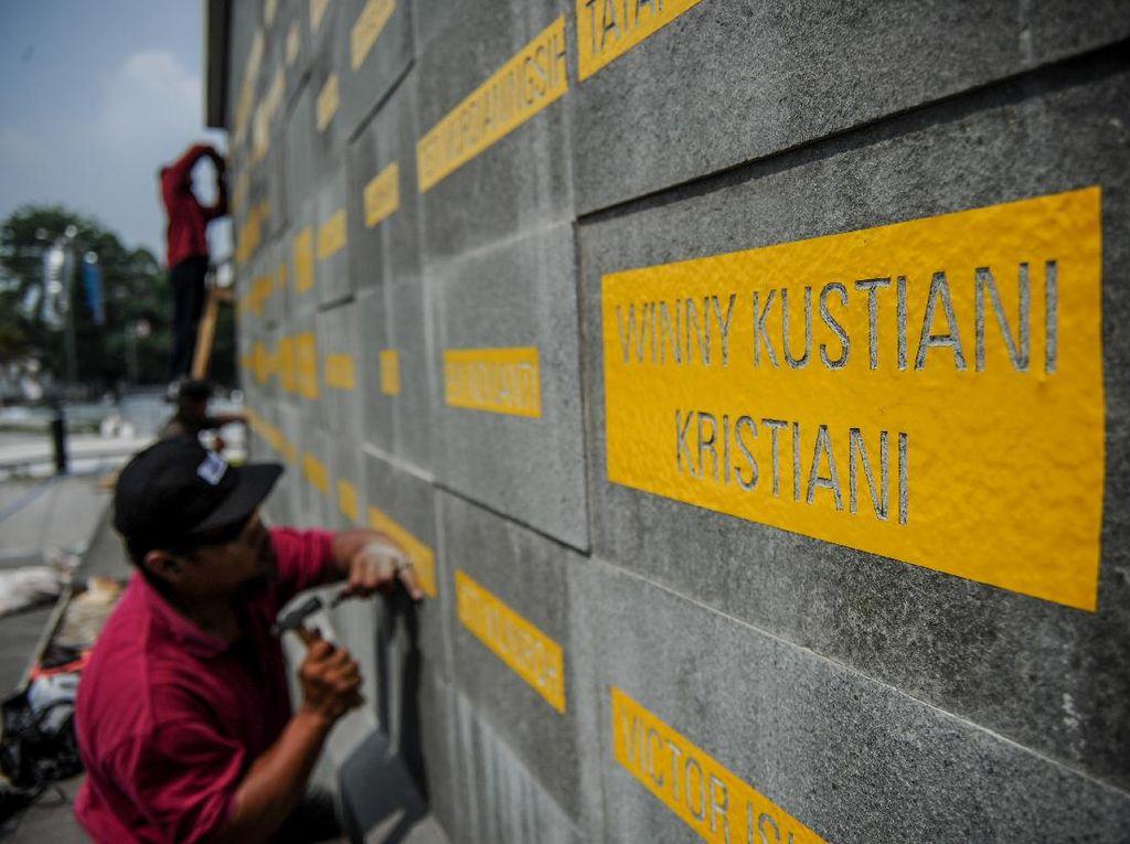 Pembuatan Monumen Gasibu untuk 260 Nakes yang Gugur di Bandung