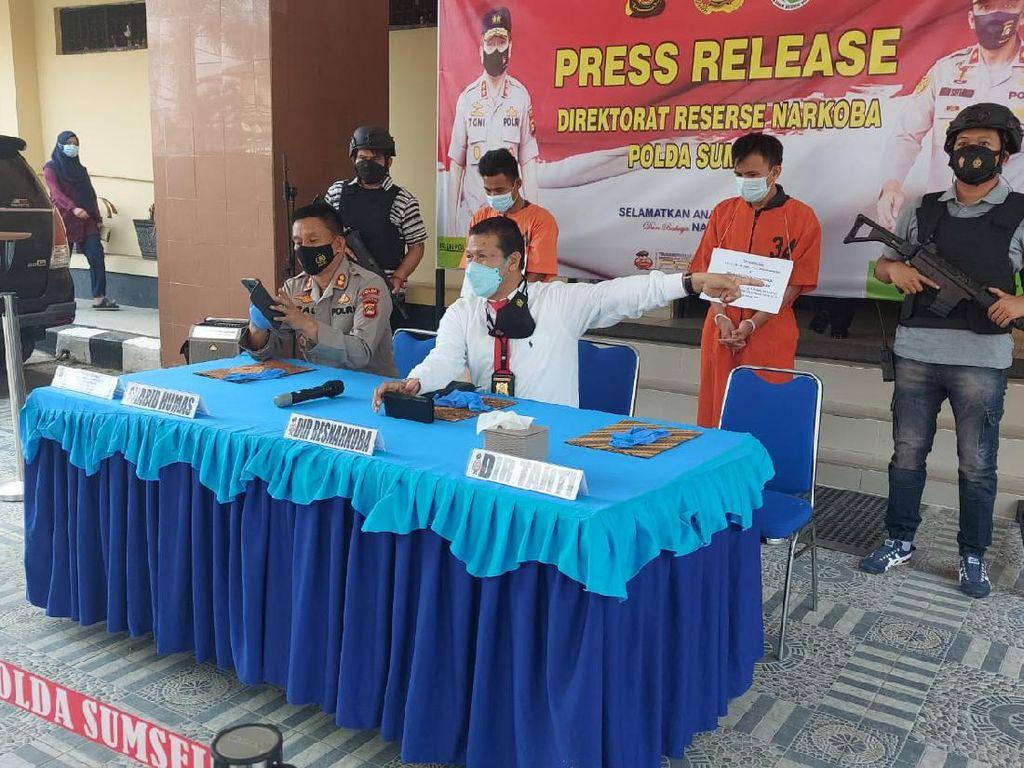Polisi Tangkap 2 Kurir Narkoba di Sumsel, Sita 3 Kg Sabu