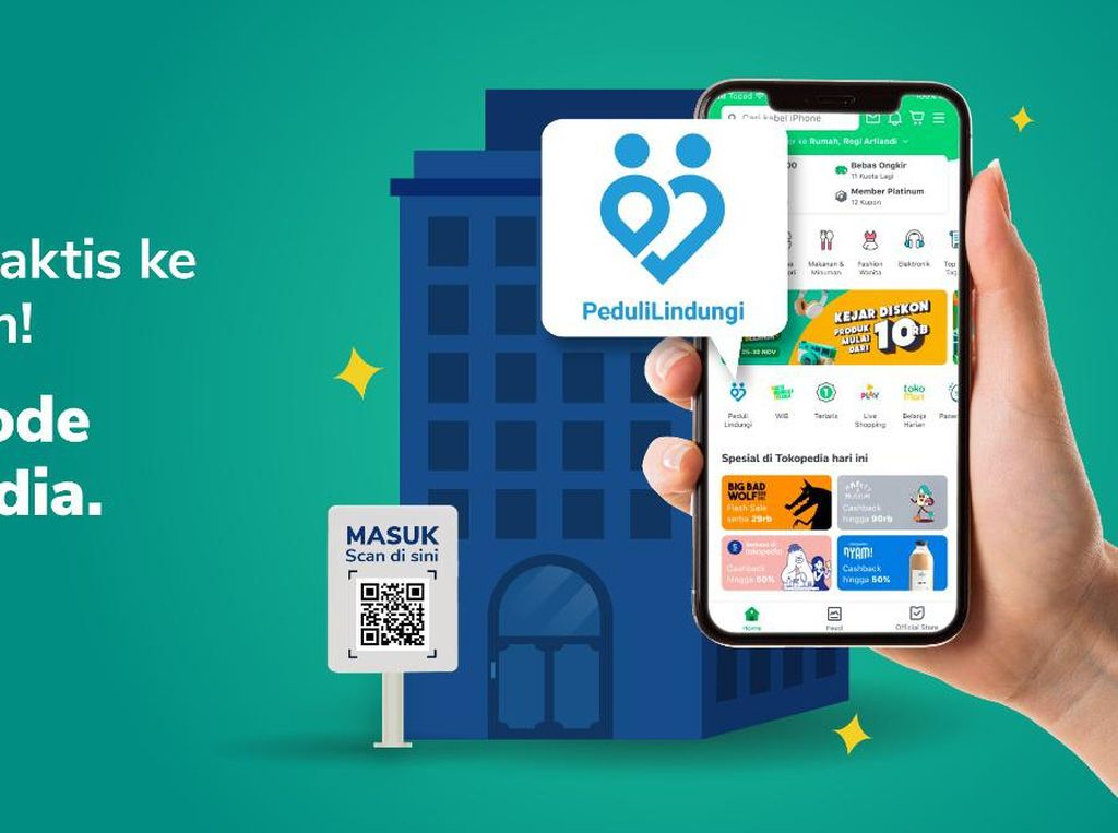 Gojek-Tokopedia Pertama Integrasikan PeduliLindungi dalam Platform