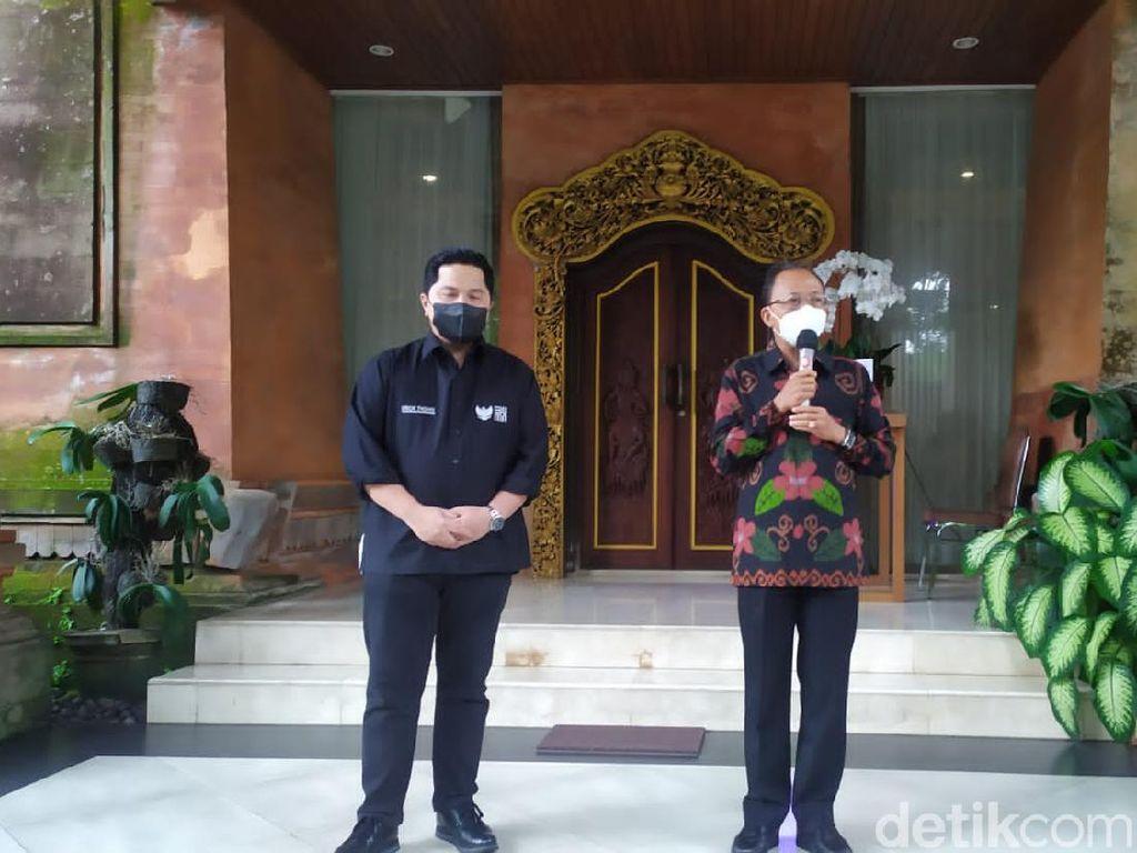 Pintu Wisman ke Bali Dibuka, Gubernur Bali Minta Erick Thohir Siapkan Bandara-Pesawat