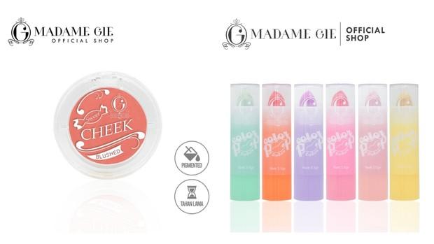Gunakan perona pipi dan bibir untuk mempermanis tampilan makeup   Foto: instagram/madame.gie