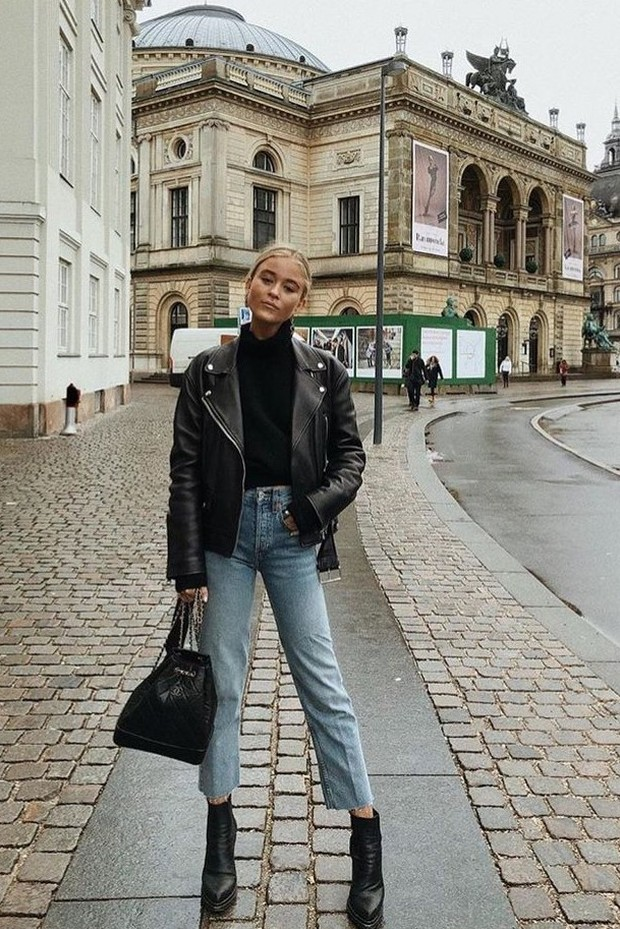 Leather Jacket/Foto: Pinterest/Luxymom
